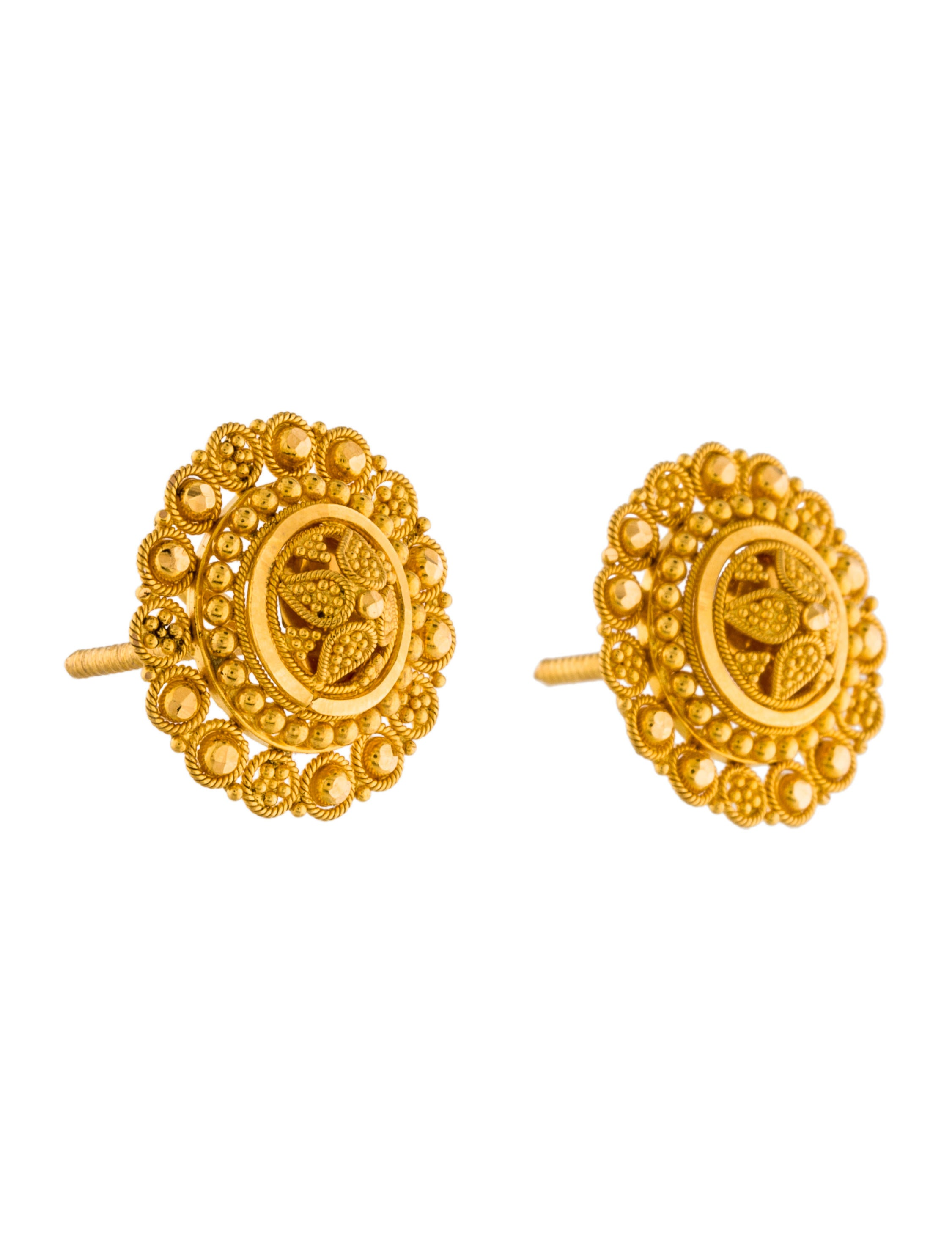 post earrings ball fea earring plated stud ring gold