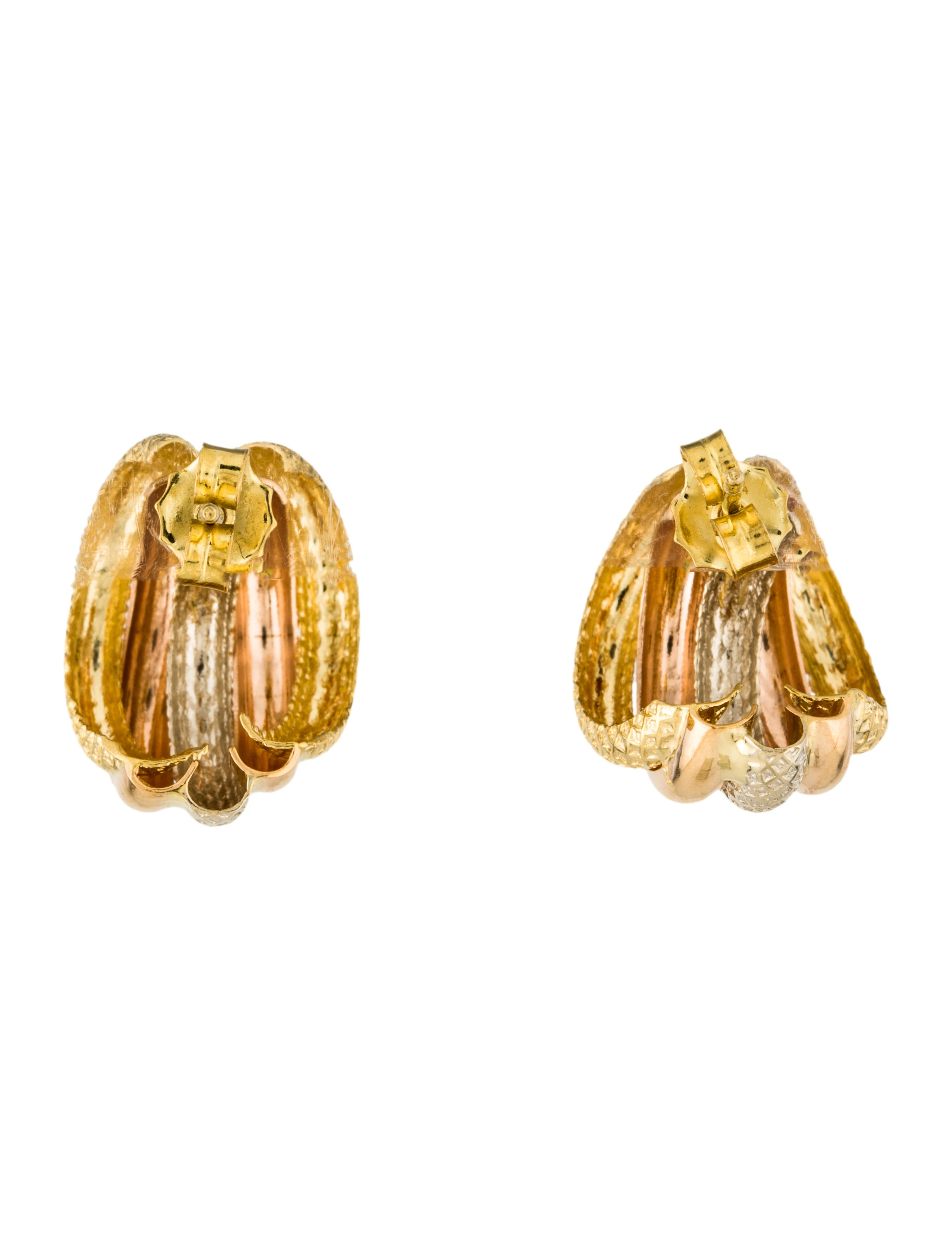 18k huggie earrings earrings earri37062 the realreal