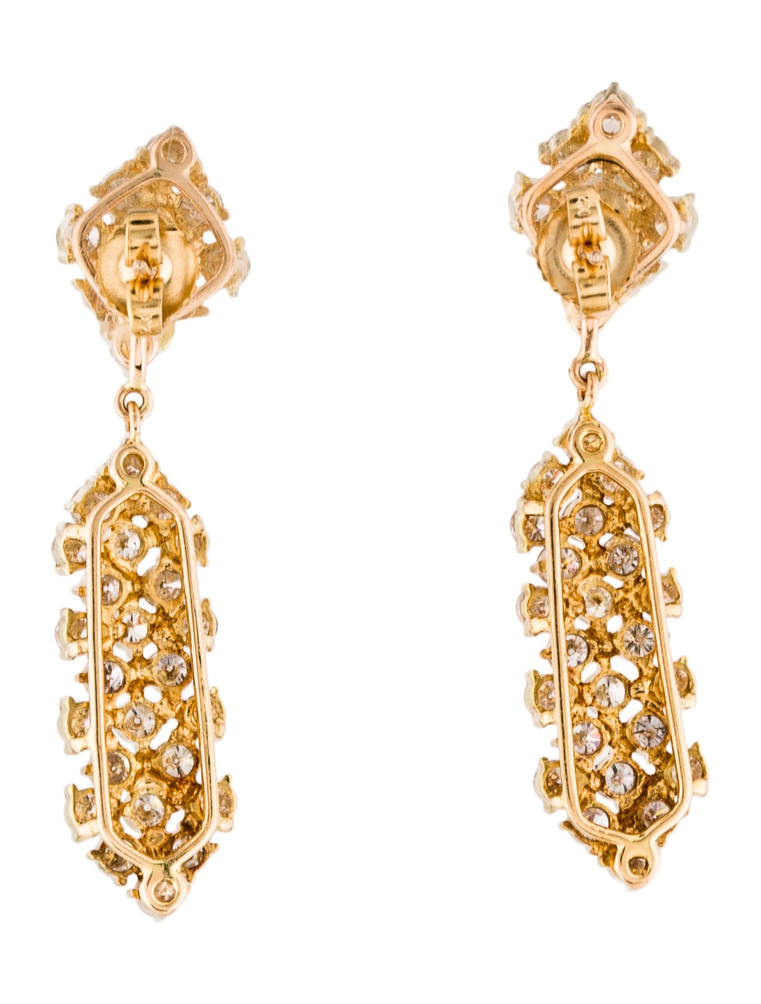 14k diamond drop earrings earrings earri37439 the. Black Bedroom Furniture Sets. Home Design Ideas