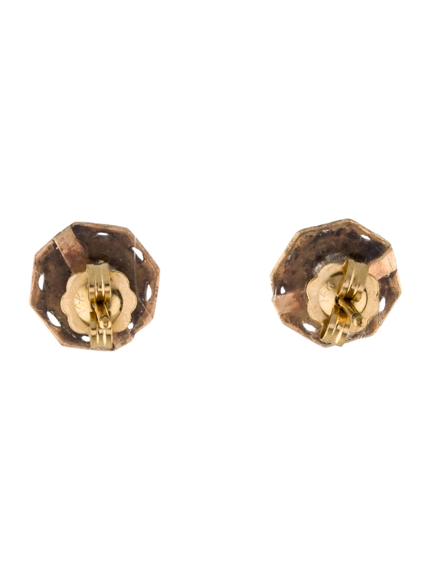 Earrings 13k Old Mine Cut Diamond Stud Earrings Earrings
