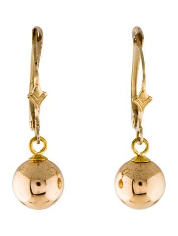 14K Ball Drop Earrings None