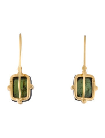 18K Green Tourmaline Drop