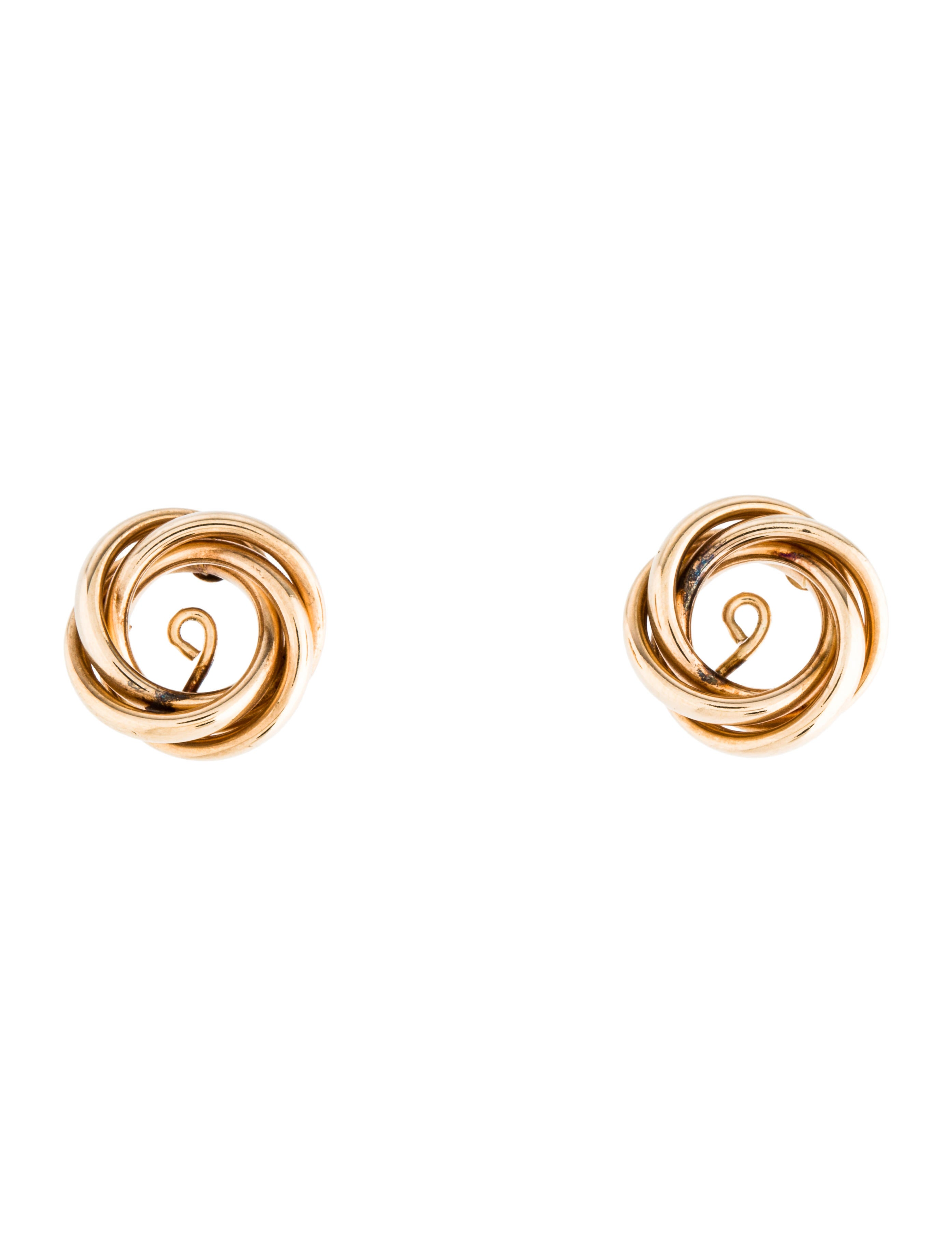 14k Twisted Earrings Jackets