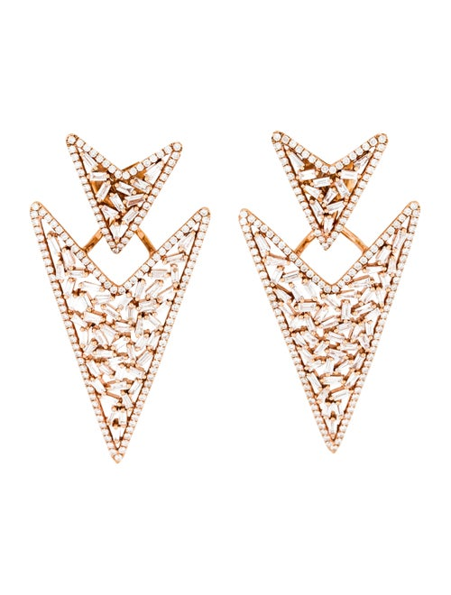 Arrow Jacket Earrings rose