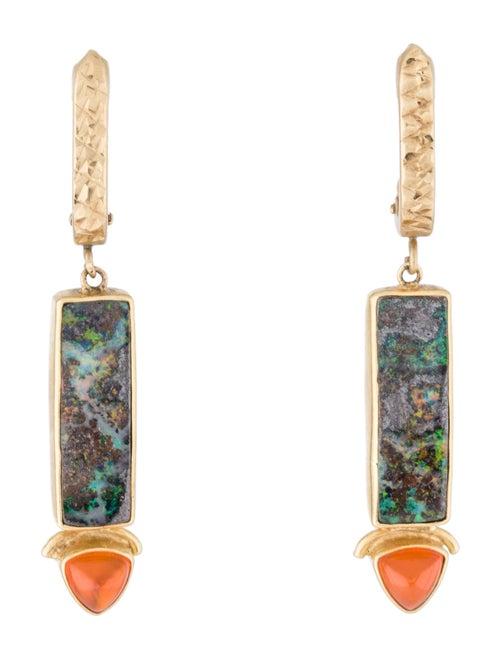 Earrings 18k Opal Drop Earrings