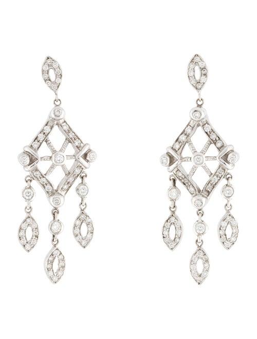 18K 2.05ctw Diamond Drop Earrings white