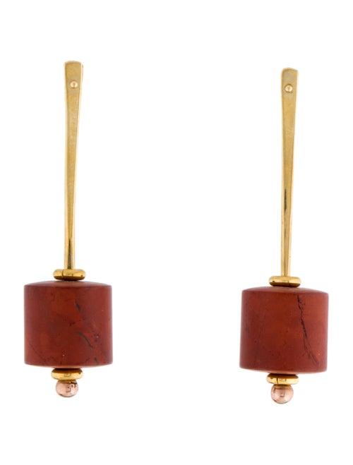 18K Jasper Drop Earrings yellow