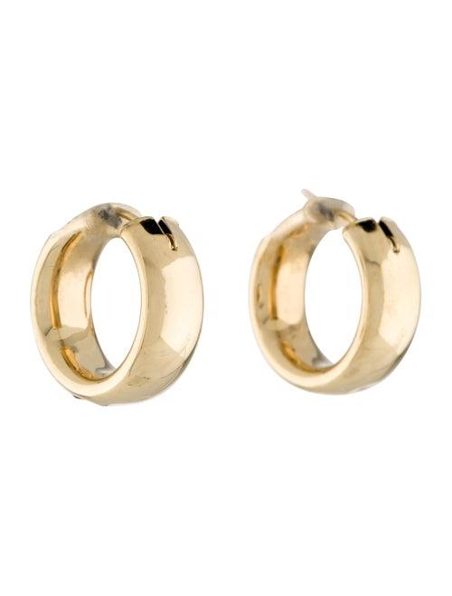 14K Hoop Earrings yellow