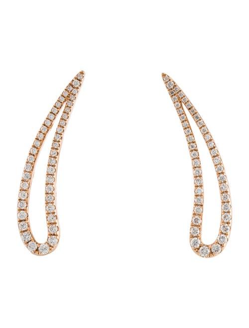 18K Diamond Ear Climbers rose