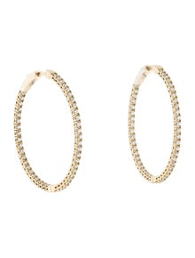 Earrings 14K 2.35ctw Diamond Inside-Out Flexible Hoop Earrings