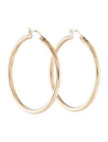Earrings 14K Hollow Hoop