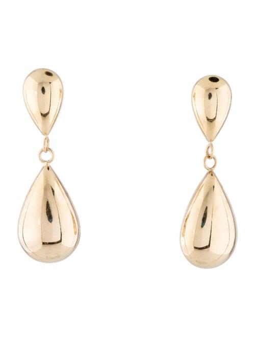 14K Drop Earrings yellow