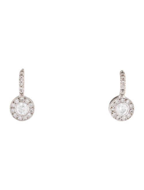 18K Diamond Drop Earrings white