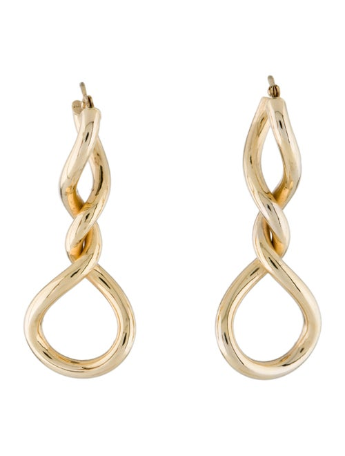 14K Coiled Drop Earrings yellow