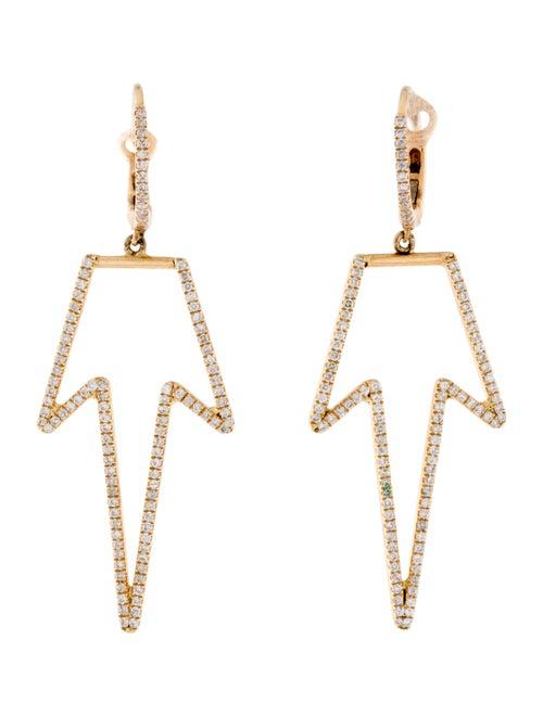 18K Diamond Drop Earrings yellow