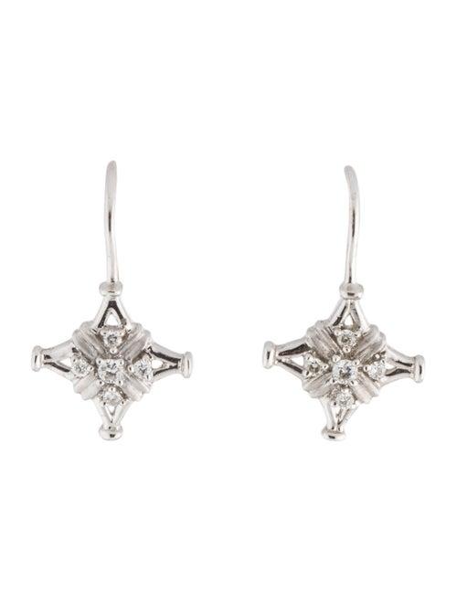 14K Diamond Drop Earrings white