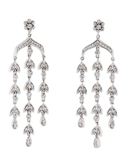 14K Diamond Chandelier Earrings white