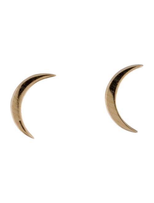 Earrings 14K Moon Stud Earrings Yellow