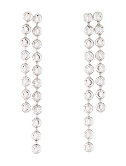 14K Dangle Earrings white