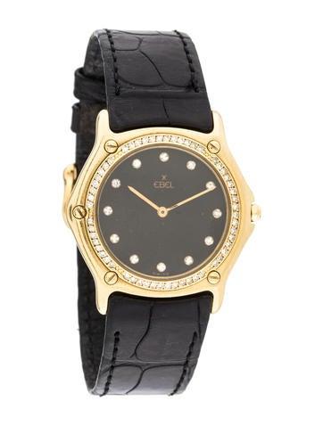 Ebel 18K Diamond Bezel Watch