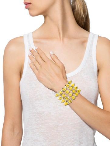 Mulitrow Howlite Spike Bracelet
