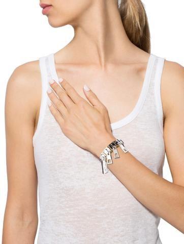 Two-Tone Zipper Slide Bracelet