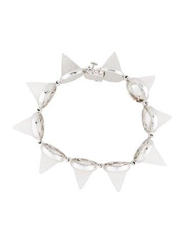 Silver Quartz Cone Bracelet
