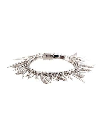 Prickled Fringed Crystal Bracelet