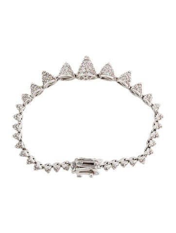 Pave Crystal Graduated Mini Cone Bracelet