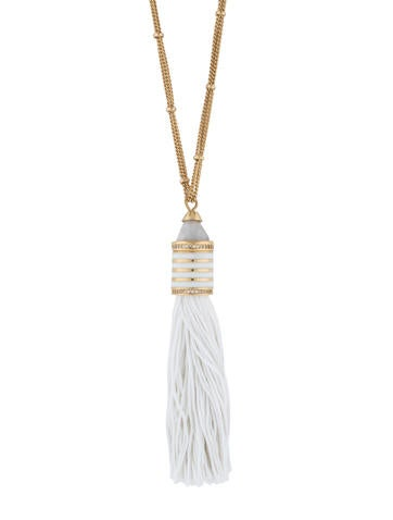 Eddie Borgo Agate, Crystal & Enamel Cone Tassel Necklace None