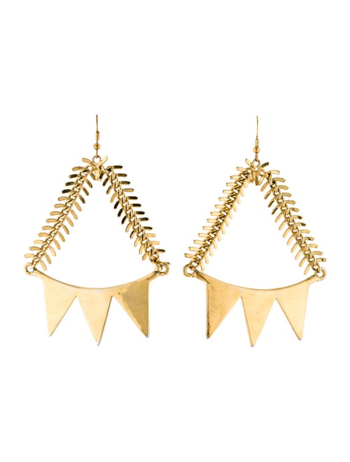 Eddie Borgo Smile Chandelier Earrings Gold
