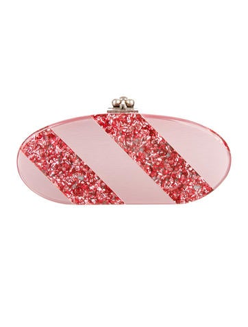Striped Oval Clutch
