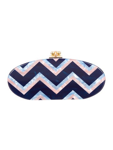 Edie Chevron Clutch