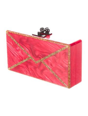 Jean Envelope Glittered Box Clutch