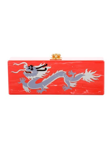 Flavia Dragon Hibiscus Clutch