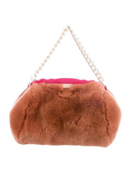 Edie Parker Fur Parker Bag gold
