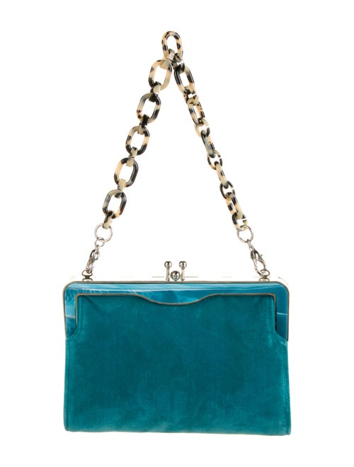 Edie Parker Velvet Handle Bag Green