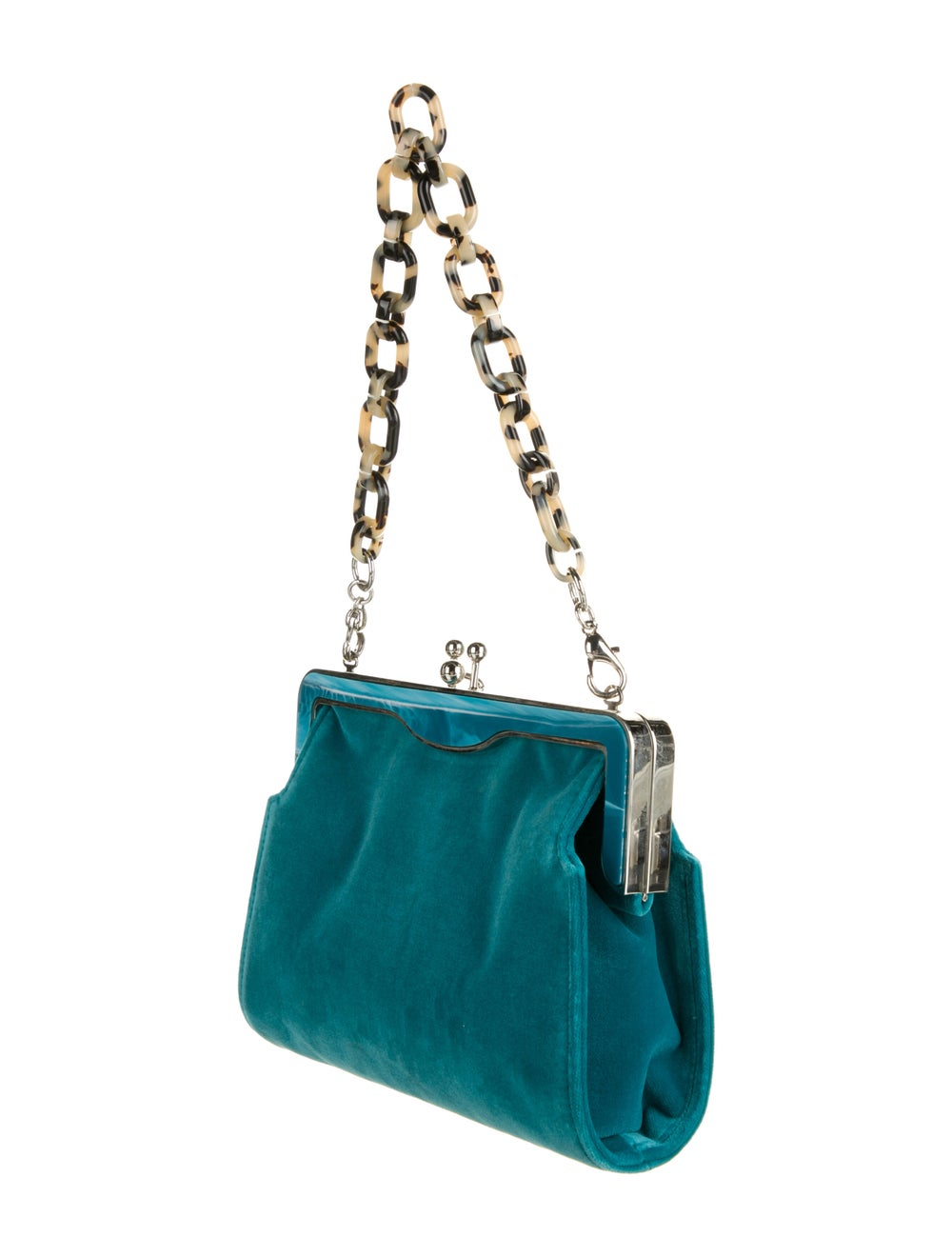Edie Parker Velvet Handle Bag Green - image 3