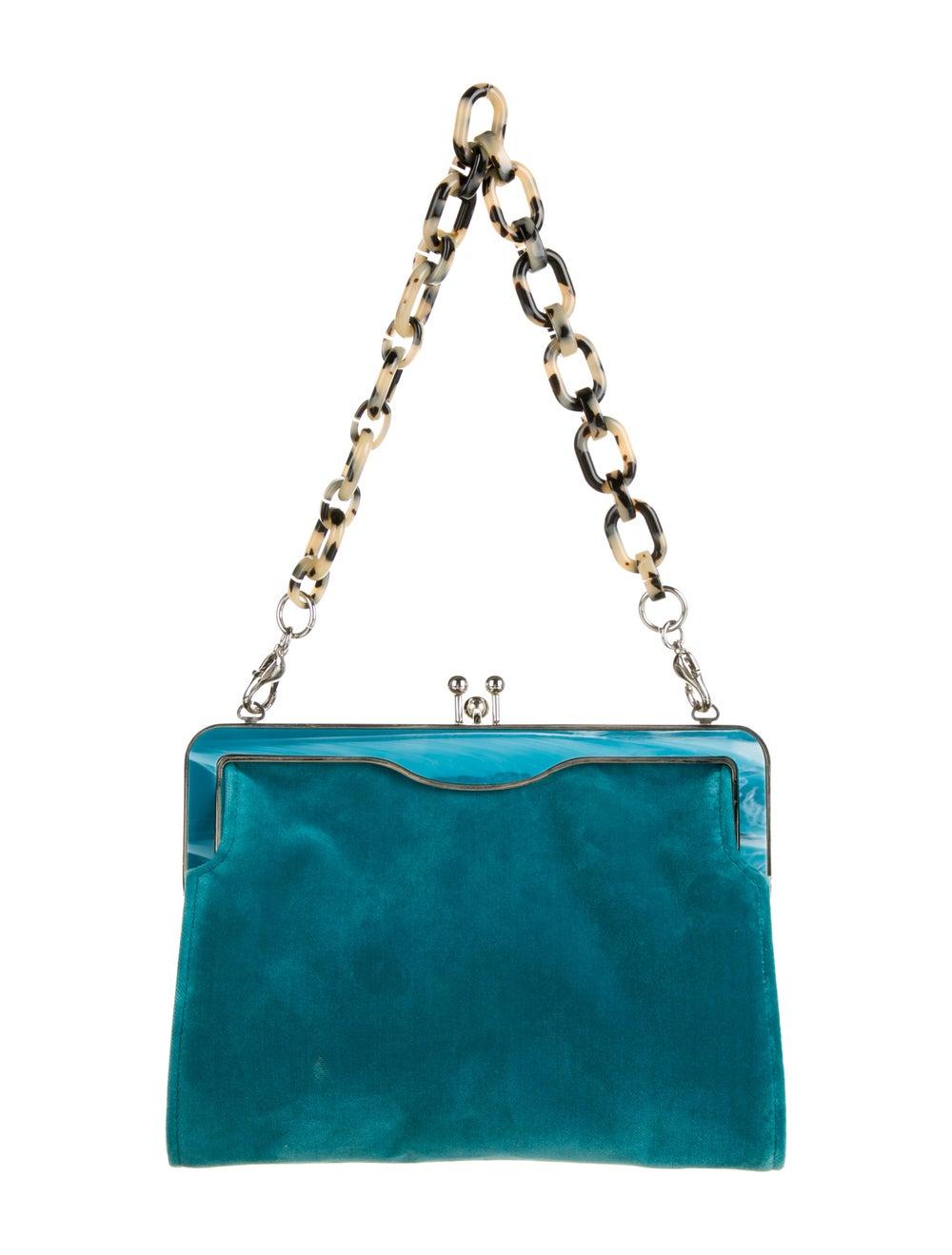 Edie Parker Velvet Handle Bag Green - image 4