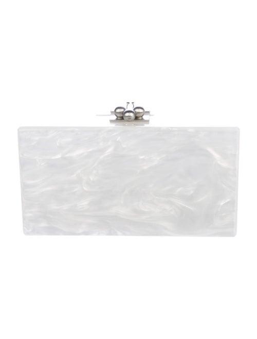 Edie Parker Jean Acrylic Box Clutch White