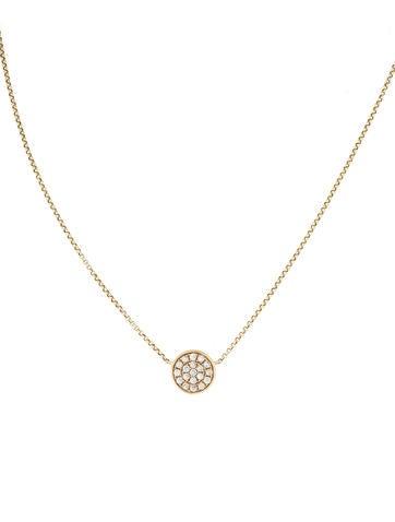 Effy Jewelry Trio Diamond Disc Pendant Necklace