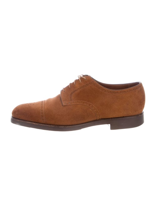 Edward Green Suede Brogues Green