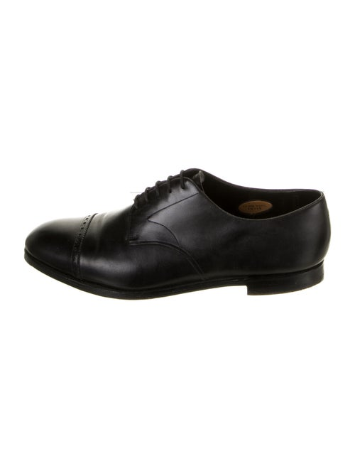 Edward Green Leather Oxfords Green