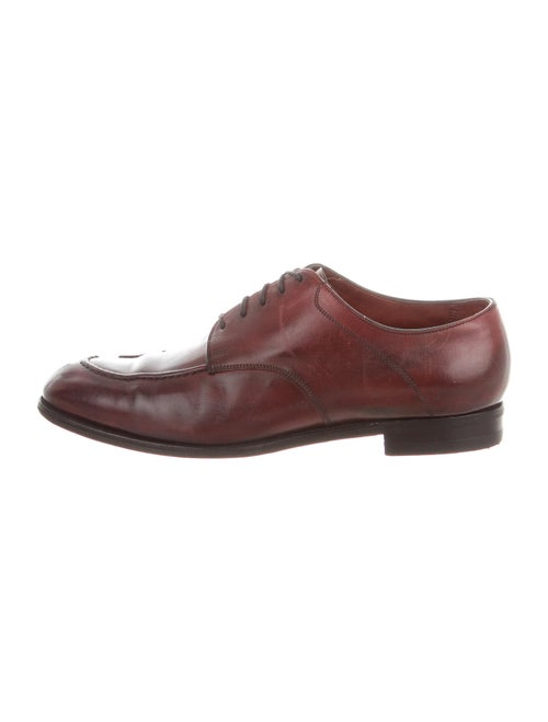 Edward Green Leather Derby Shoes Green