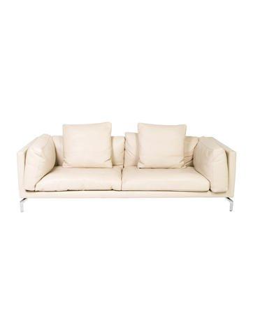 Erba Italia Leather-Upholstered Sofa None