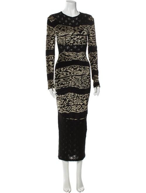 Elizabeth Fillmore Printed Long Dress