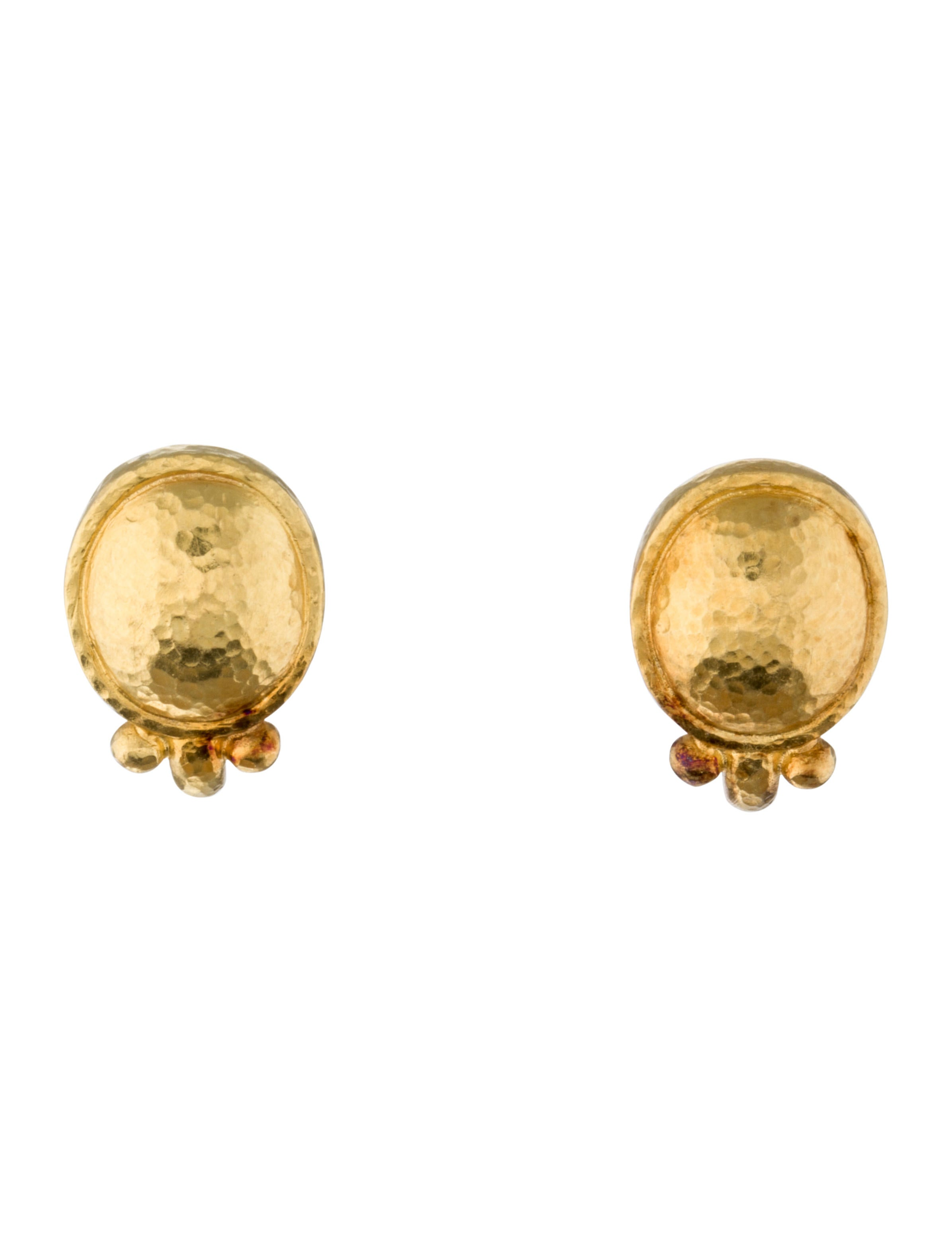 Elizabeth Locke Sarabella 19k Gold Earrings QKcoffTl