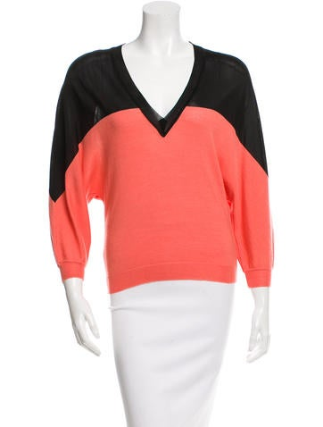 Emanuel Ungaro Wool & Silk-Blend Top w/ Tags None