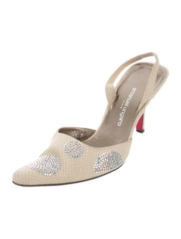 Emanuel Ungaro Embellished Slingback Pumps buy cheap popular Zwaj0Ogb