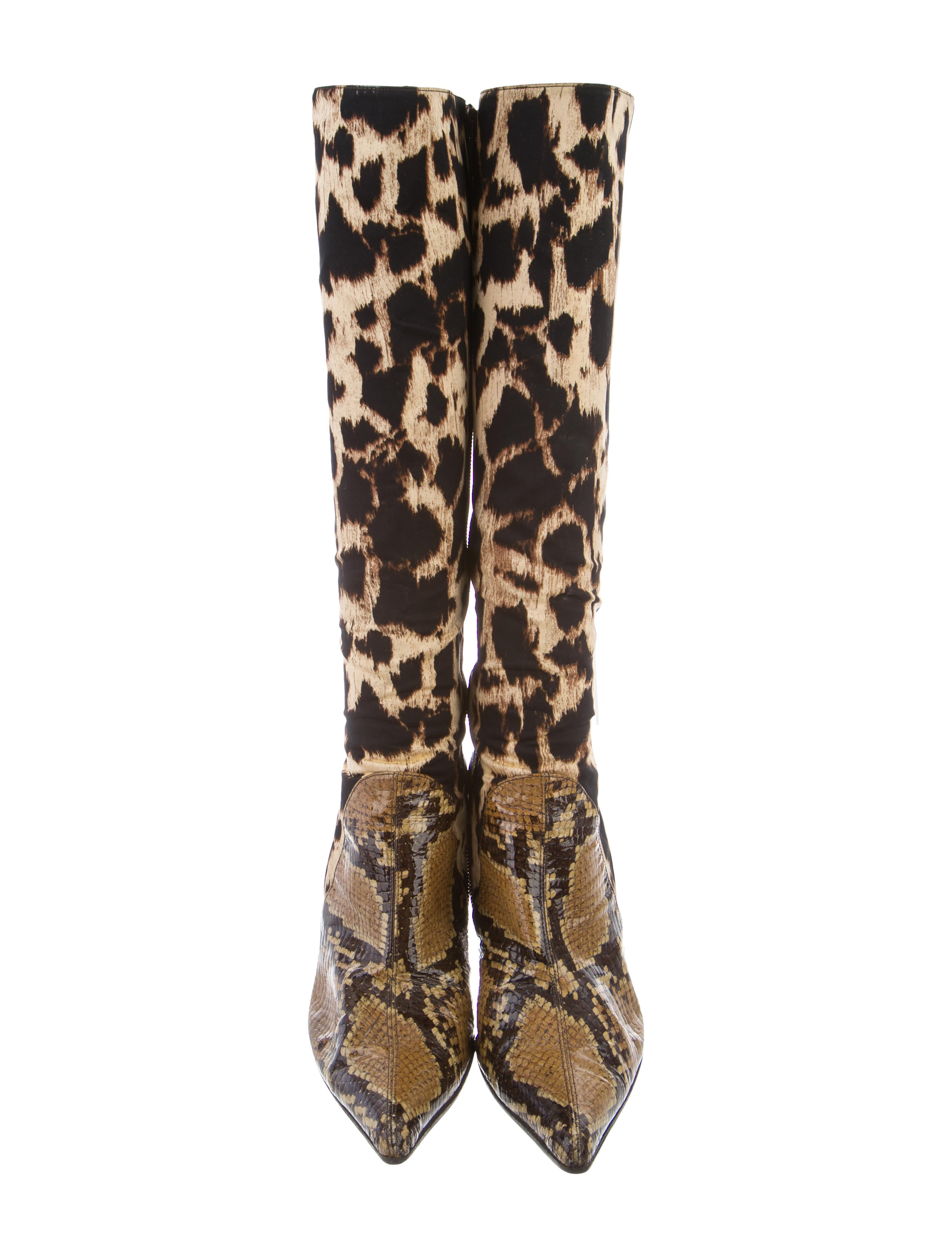 Emanuel Ungaro Canvas Mid-Calf Boots shipping discount authentic PUB76PBdcY